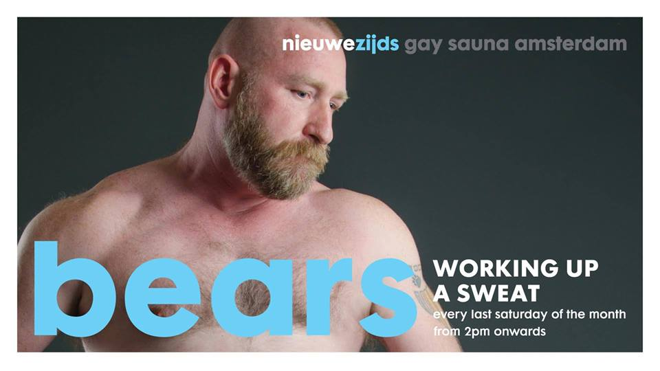 Bear themed party at the Nieuwezjids gay sauna in Amsterdam
