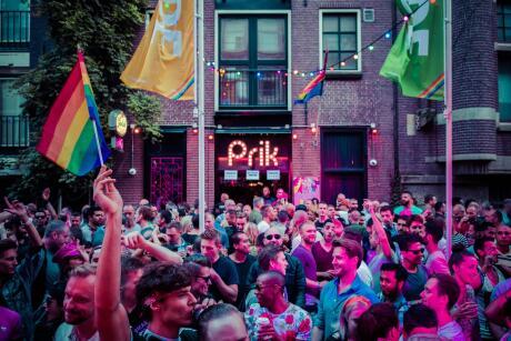 A festa do Orgulho Prik em Amsterdã