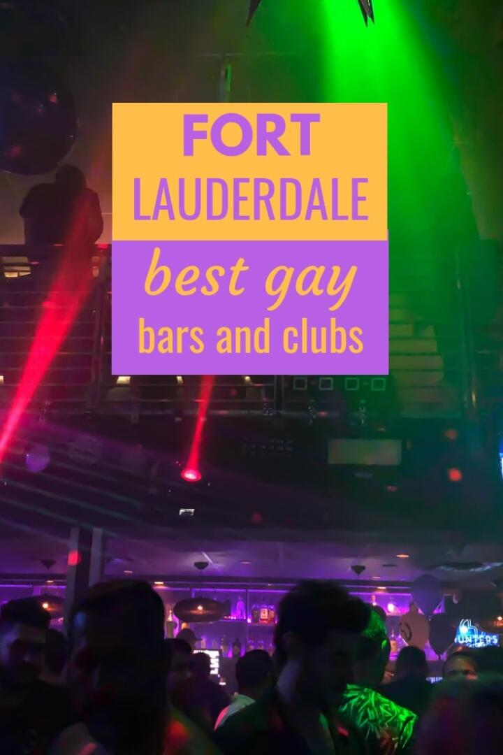 Best gay bars and clubs of Fort Lauderdale Pinterest image