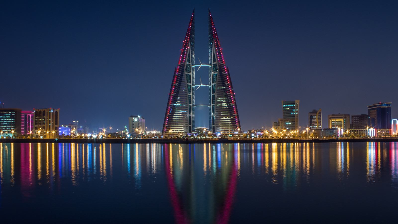 Bahrain by night, supposedly one of the most tolerant countries in the arab world