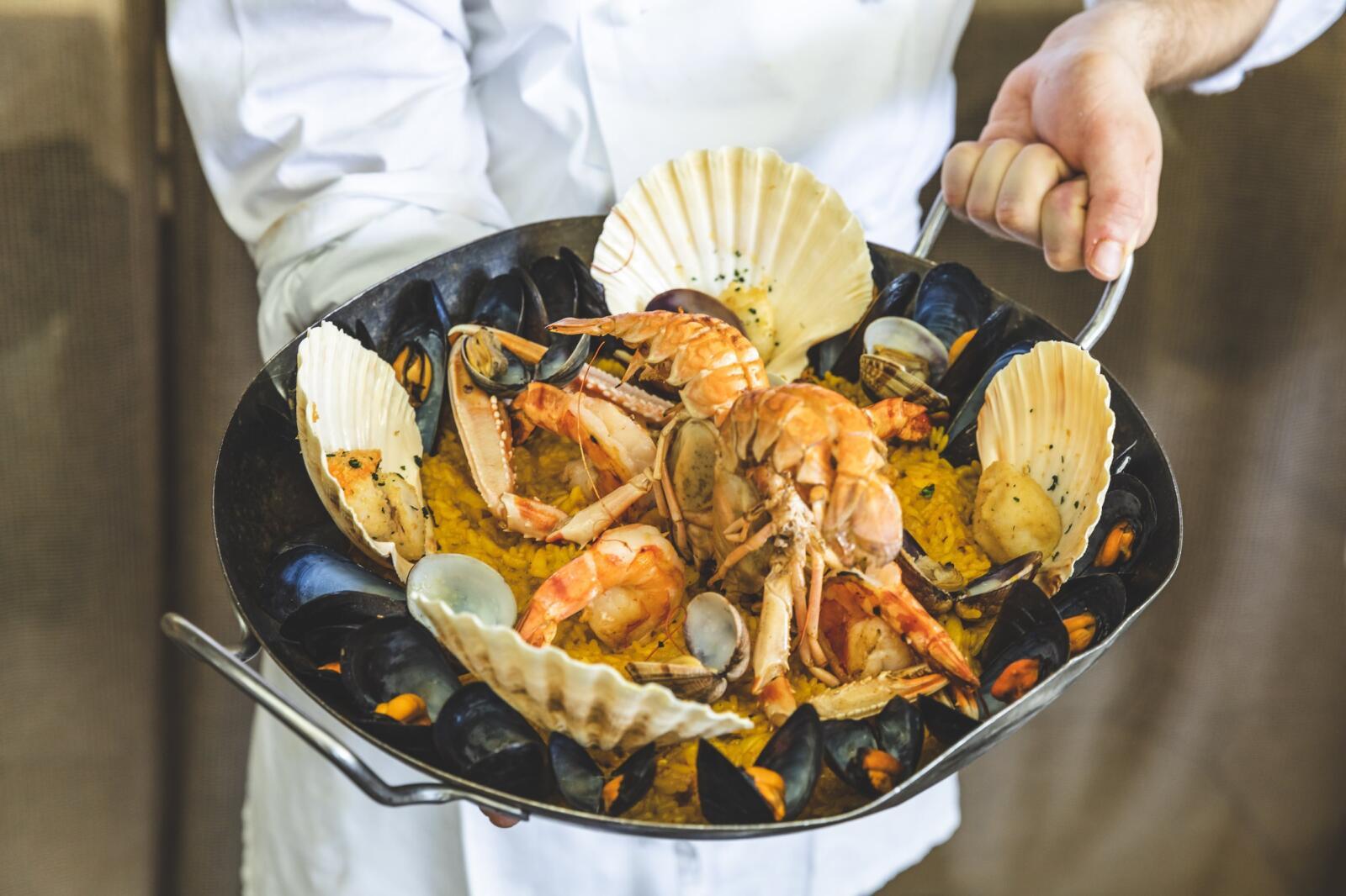 Seafood paella at Magda's restaurant