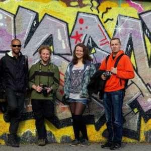 Making new friends on an alternative walking tour of Prague
