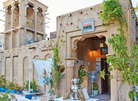 Try some traditional Emirati cuisine at the Arabian Tea House in Dubai.