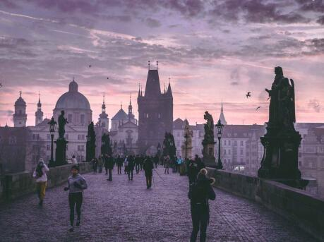 Gay travellers to Prague will love the beautiful Charles Bridge at all times of day and night.