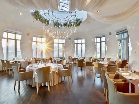 Have a romantic meal inside Prague's famous Dancing House at the Ginger & Fred restaurant.