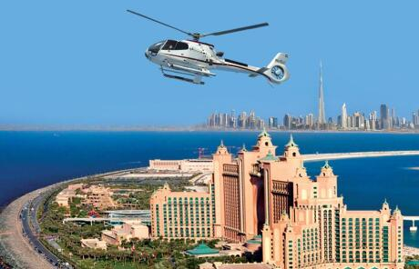 A helicopter tour over the city is an amazing experience for gay travellers to Dubai.