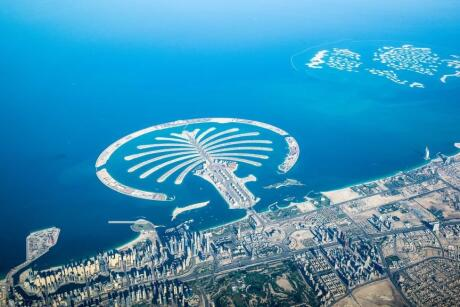 Gay travelers to Dubai will have a ball exploring the Palm Jumeirah man-made island.