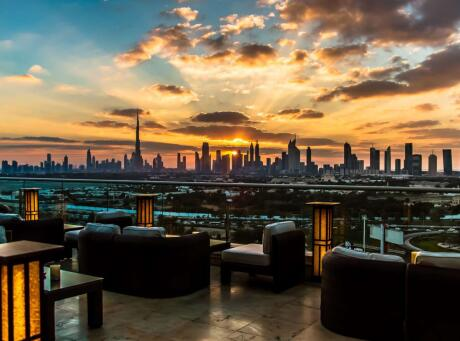Amazing views at TOMO, an authentic Japanese restaurant in Dubai.