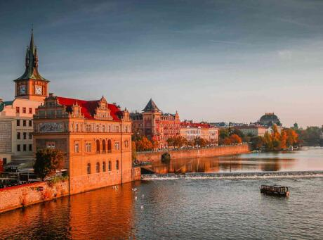 A romantic cruise along the Vltava river  is the perfect way to enjoy your gay-cation in Prague!