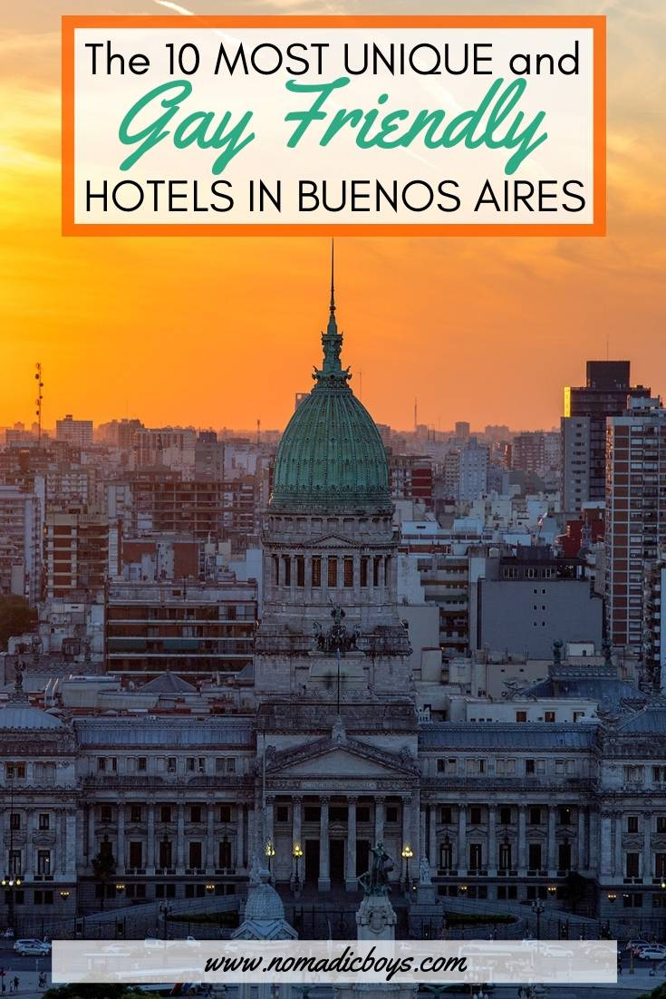 The coolest and most unique gay friendly hotels in Buenos Aires, Argentina.