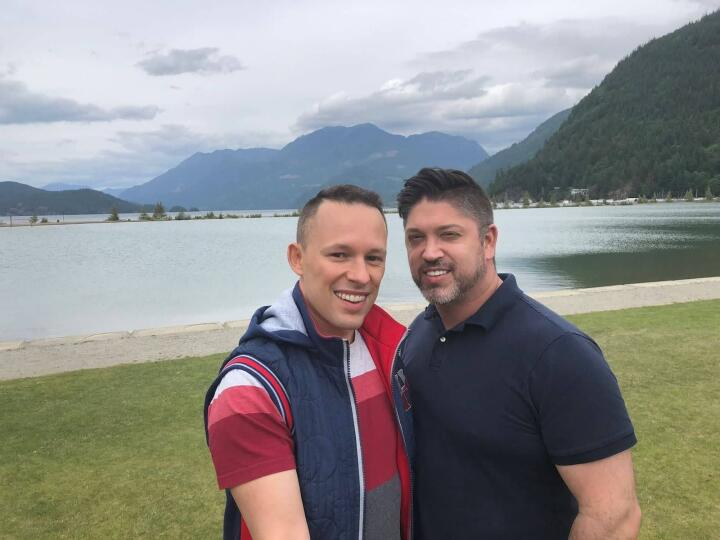 Josh and Heath, a gay couple in Vancouver for a romantic weekend