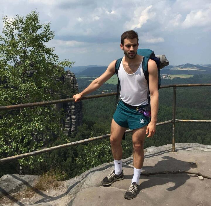 Marcel Mr Gay Germany hiking in East Germany