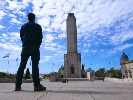 Stefan and the Bandera Monument in Rosario, Argentina.
