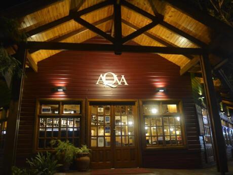Gourmet restaurant Aqva in Puerto Iguazú.
