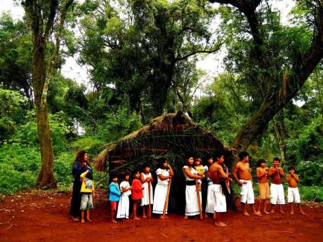 Visit a traditional Guarani village on a tour from Puerto Iguazú.