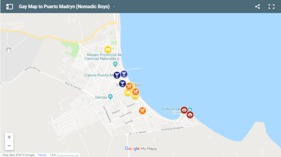 All the best gay bars, restaurants and accommodation in Puerto Madryn.