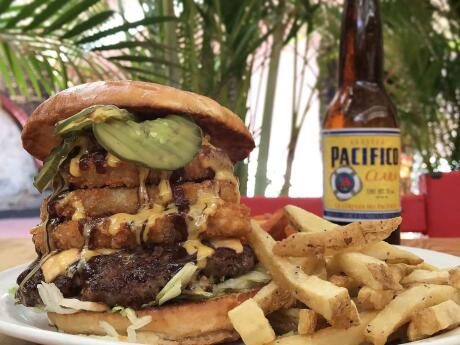 After a night of partying at Puerto Vallarta's gay clubs you should try one of the best (and hugest) burgers in town at Derby City Burgers!
