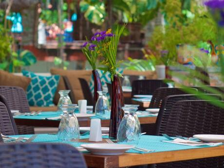 Taste is the lovely restaurant at Casa Cupula gay hotel in Puerto Vallarta.