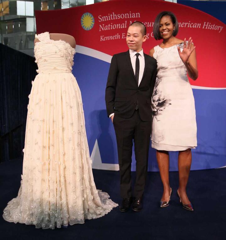 Gay Taiwan fashion designer Jason Wu with Michelle Obama