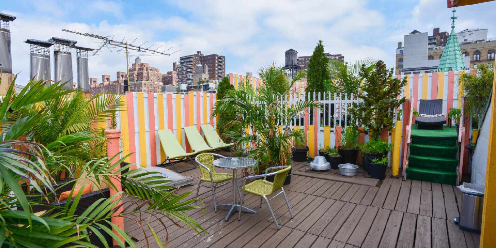 Gay Pride New York - the Colonial House Inn is an affordable accommodation option in Chelsea with a lovely rooftop terrace.