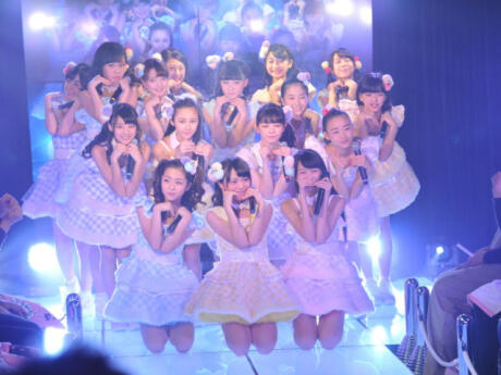 Kawaii performers at a J-Pop concert in Harajuku, Tokyo.