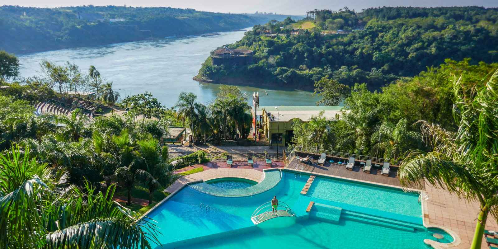Incredible views from the gay friendly Amerian Portal Hotel in Puerto Iguazú.