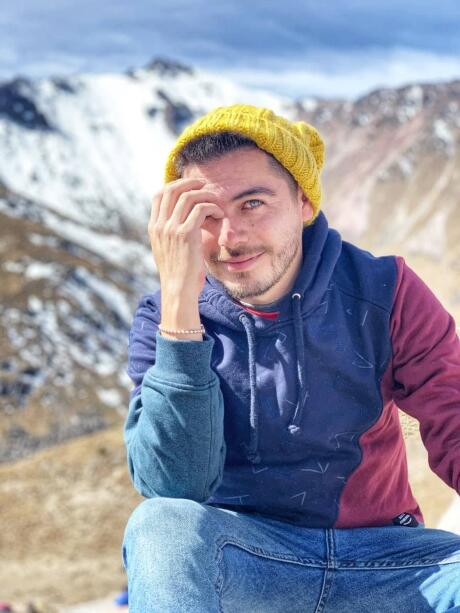 Gay guy at Nevado de Toluca in Mexico