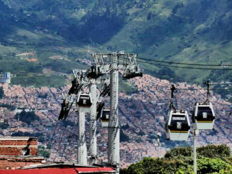 Gay travel to Medellin - take the cable car to Arvi Park for gorgeous views over the city.