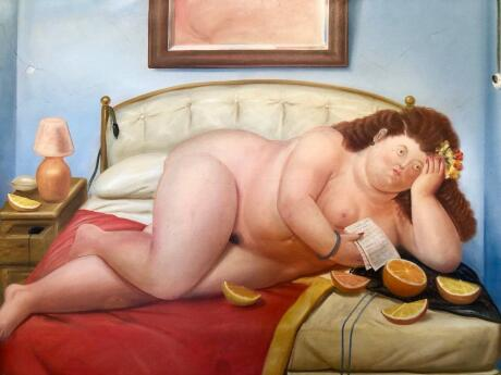 Visit the Botero Museum in Bogota for free and enjoy Fernando Botero's distinctive paintings and sculptures.