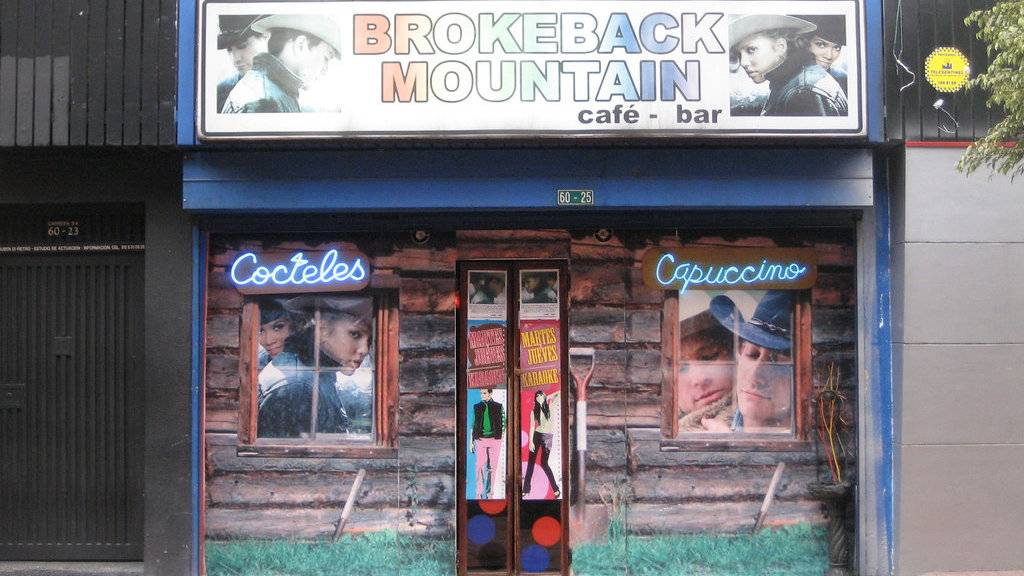 Brokeback Mountain is a great little gay cafe and bar in Bogota.