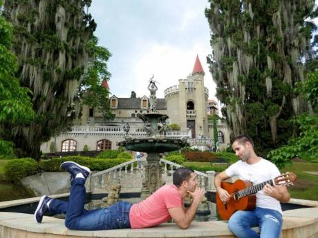 Gay couples travelling to Medellin will love relaxing in the romantic gardens of Castillo Castle.