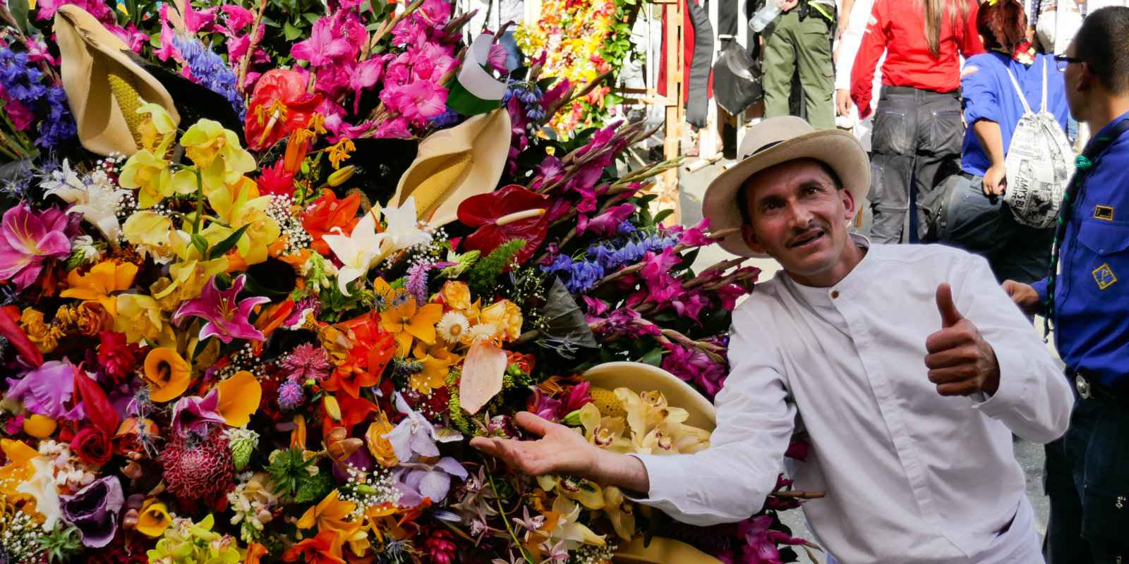 Medellin's flower festival is a riot of colour, blooms, parades and events throughout the city.