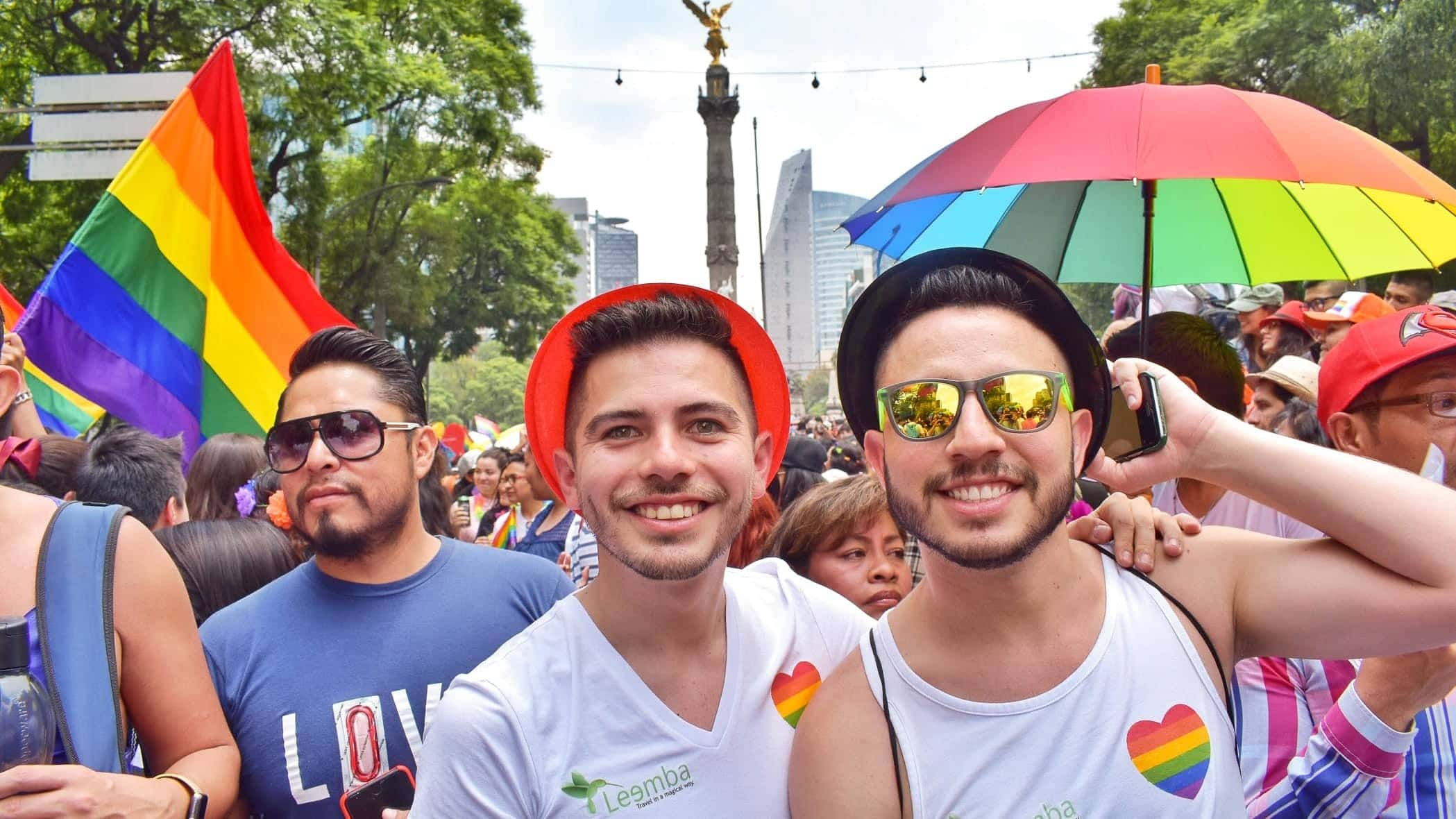 Gay couple at Mexico gay Pride