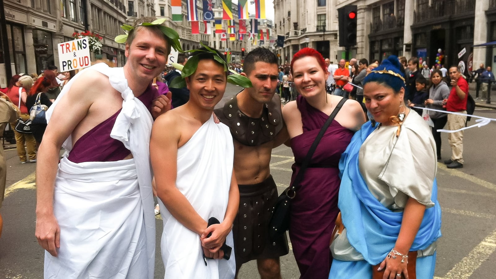 Roman and Ancient Greek Pride outfits