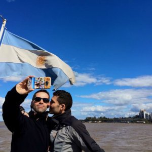 Go on a romantic boat ride with your love on the Paraná River.