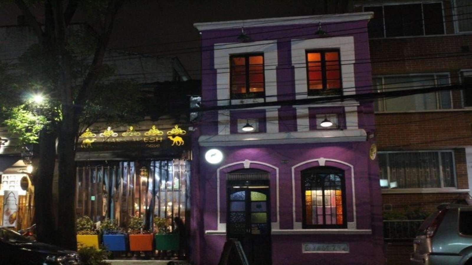 We loved the purple fabulousness of Village Cafe!