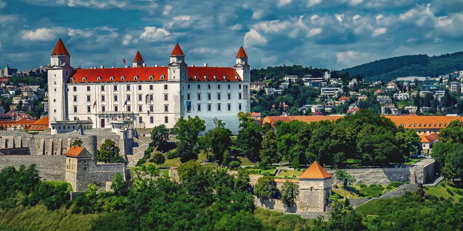 Bratislava's beautiful castle in the middle of the surprisingly gay friendly city.