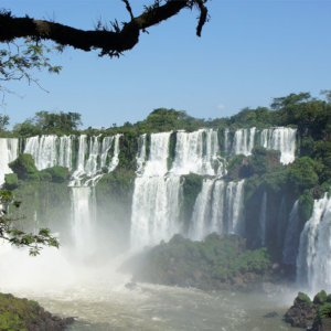 Views of the Iguazu Falls from Argentina.