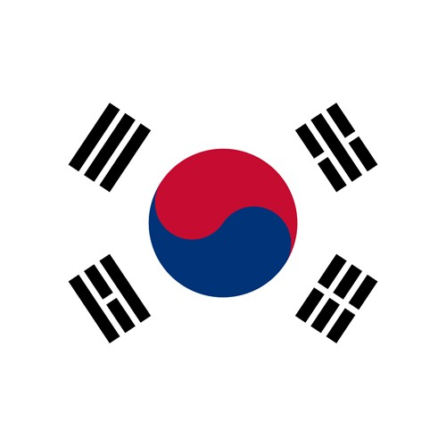 South Korea round flag