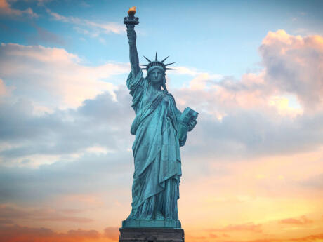 See the Statue of Liberty from close up or even above while visiting New York.