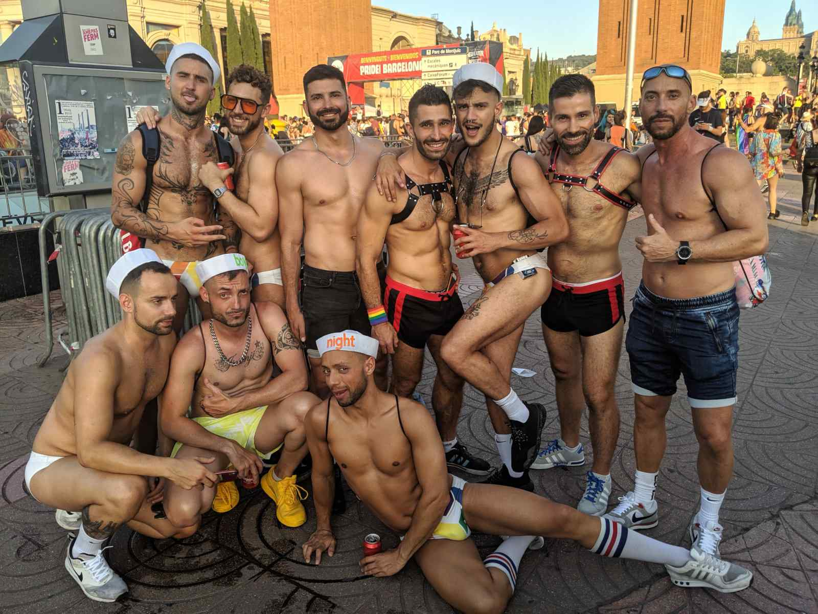 Barcelona's Pride parade ends up in Plaza Espana with a big fun concert and is one of the best to experience in Spain
