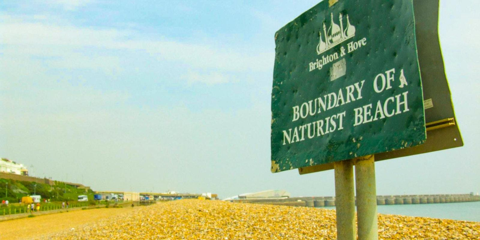 Brighton Naturist Beach is one of England's best gay nude beaches, even if it is covered in pebbles