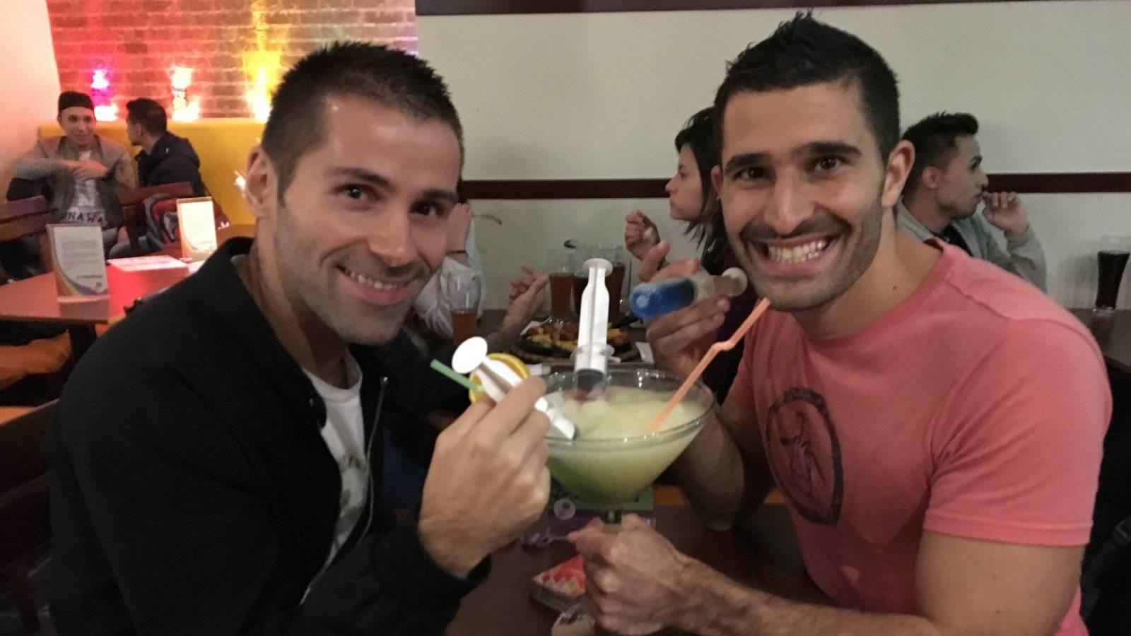 One of the crazy margaritas at gay bar El Recreo de Adan in Bogota.
