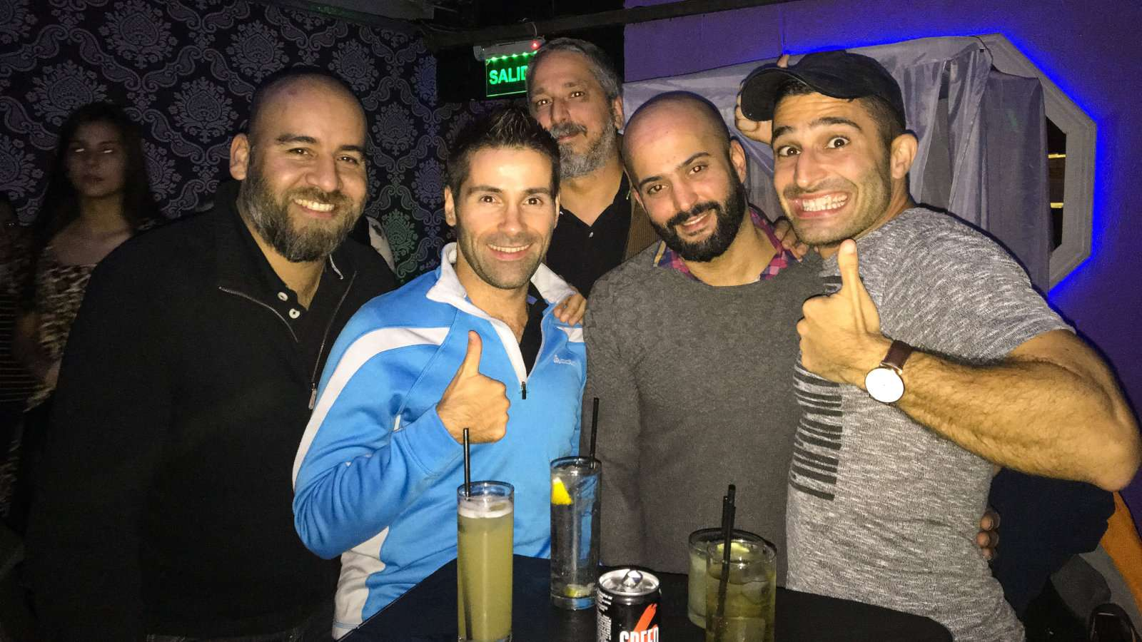Drinks at one of the bars in Theatron gay club Bogota