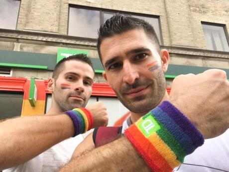 Rainbow sweatbands can show your pride during a parade or just at the gym.