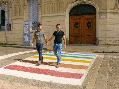 Rosario is a very gay friendly city, as evidenced by their lovely rainbow street crossings and buildings