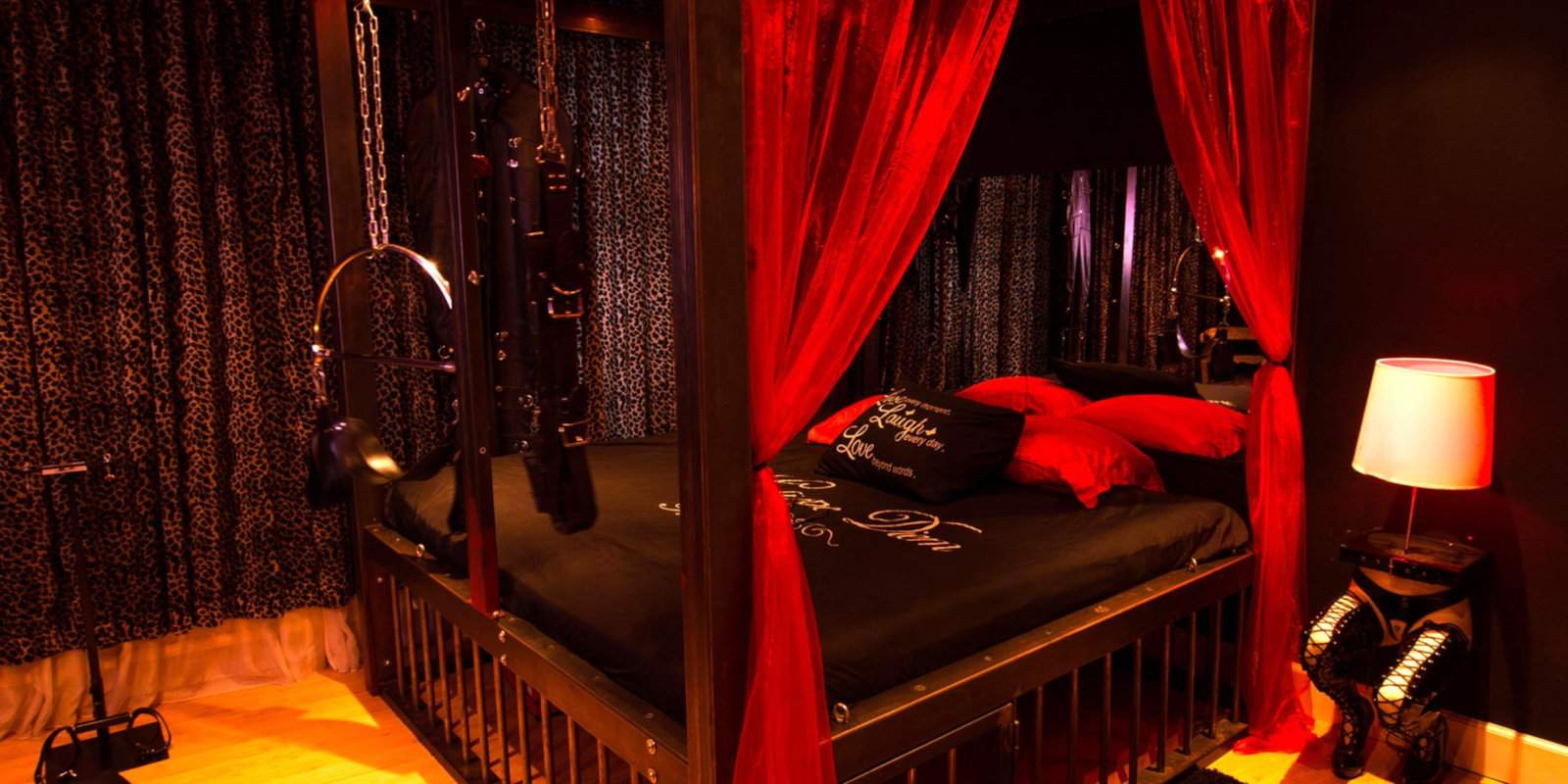 For a very naughty night, stay at the Kinky Suite in the heart of Amsterdam's Red Light District