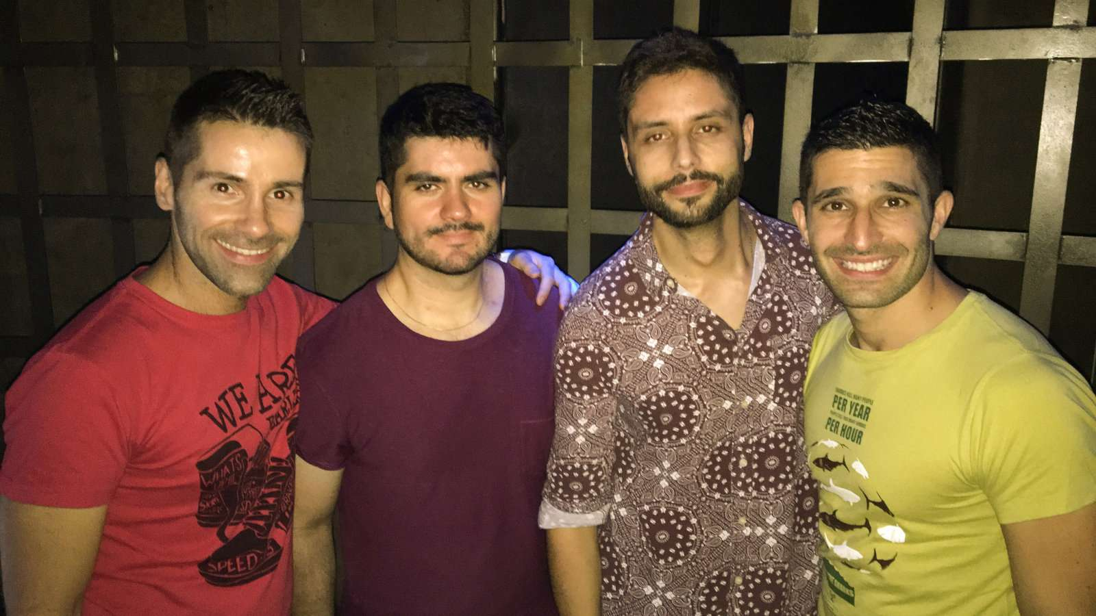 Drinking with friends at Club Divino in Santiago