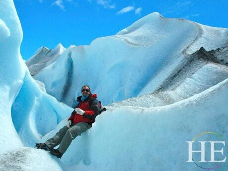On HE Travel's gay tour of Argentina you can even relax with a drink on a glacier