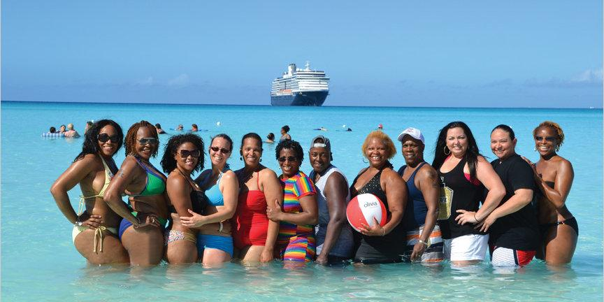 Lesbian ladies will love all the fun activities on offer on the Olivia Tahitian Paradise cruise!